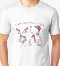 Christmas hugs from Rudolph and Teddy T-Shirt