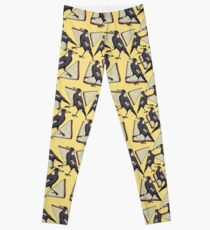 Magpies and Fairy Bread - Yellow Leggings