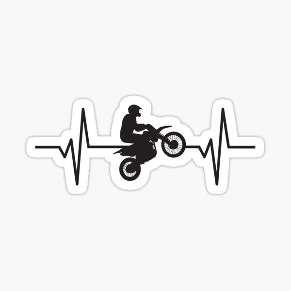Dirt Bike Jump - Pulso latido del corazón Pegatina