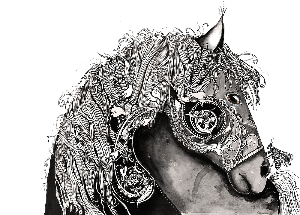 Horse with a bug by Jenny Wood