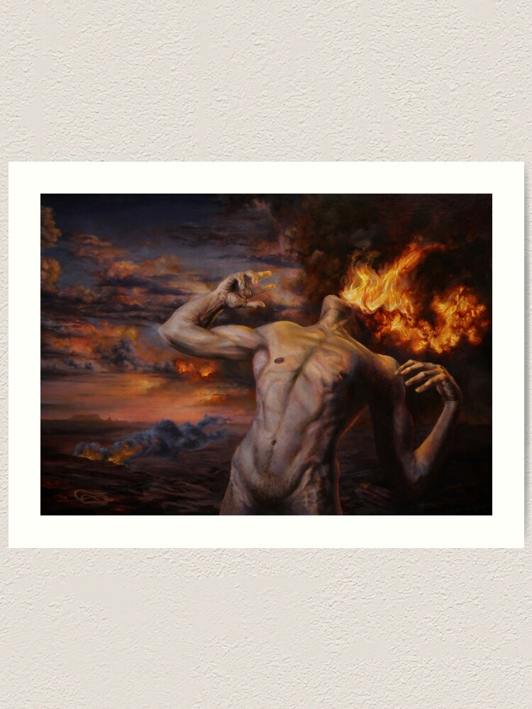 Alternate view of Burning Desire Art Print