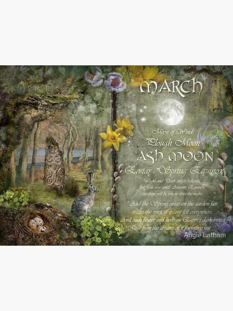 March : Ash Moon by AngelaBarnett