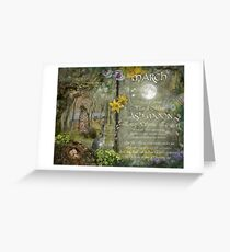 March : Ash Moon Greeting Card