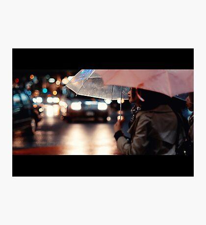 Pink Lipstick in the Rain; Shibuya, Tokyo, Japan Photographic Print