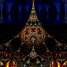 Fractal Art Deco Stalagmite by sciencenotes