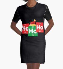 Ho Ho Ho lustiger Weihnachtssankt-Hut-Chemie-Weihnachten T-Shirt Kleid