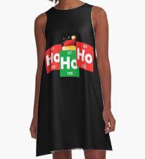 Ho Ho Ho lustiger Weihnachtssankt-Hut-Chemie-Weihnachten A-Linien Kleid