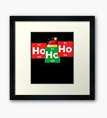 Ho Ho Ho Funny Christmas Santa Hat Chemistry Xmas Framed Print