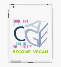 THINK OUT OF THE CAGE AND THE CRUELTY. iPad Case/Skin