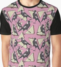 Magpies & Fairy Bread - Pink Graphic T-Shirt