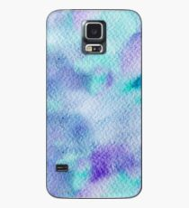 Textura abstracta pintada con acuarelas turquesa y violeta Case/Skin for Samsung Galaxy