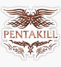League of Legends PENTAKILL emblem Sticker