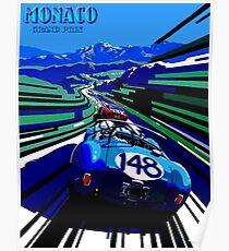 MONACO GRAND PRIX; Auto Racing Advertising Print Poster