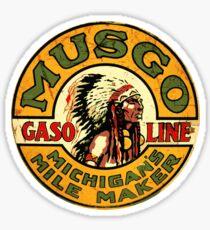 Musgo Gasoline Sign Sticker
