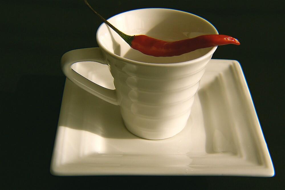 very hot coffee  by anisja