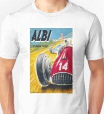 ALBI : Vintage 1952 Grand Prix Auto Racing Advertising Print T-Shirt