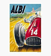 ALBI : Vintage 1952 Grand Prix Auto Racing Advertising Print Photographic Print