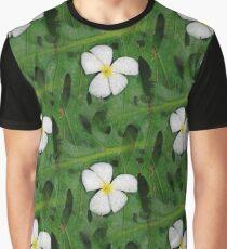 Frangipani Muster Graphic T-Shirt