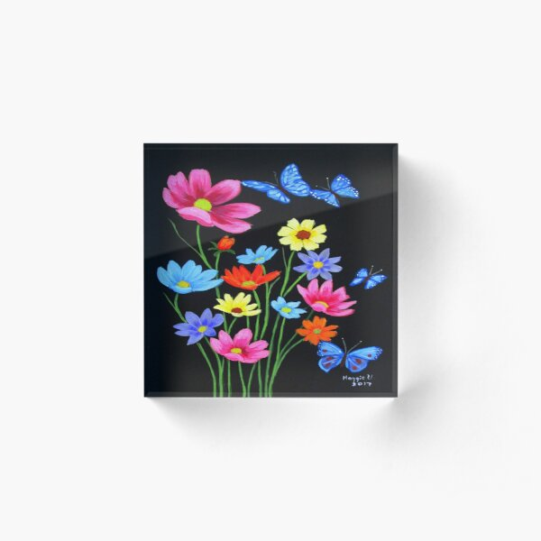 Wildflowers-3 Acrylic Block