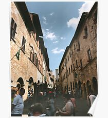 italy europe city buildings modern trendy rustic authentic photograph Poster