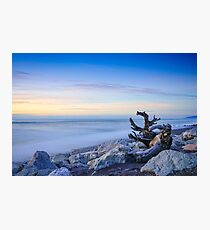 Winter sunset, Hokitika, New Zealand Photographic Print