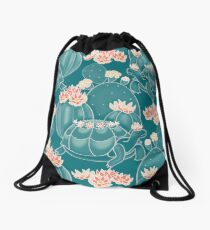 Find a tortoise  Drawstring Bag