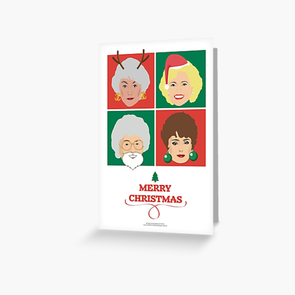 Golden Girls Christmas Card, Dorothy, Rose, Blanche and Sophia Greeting Card
