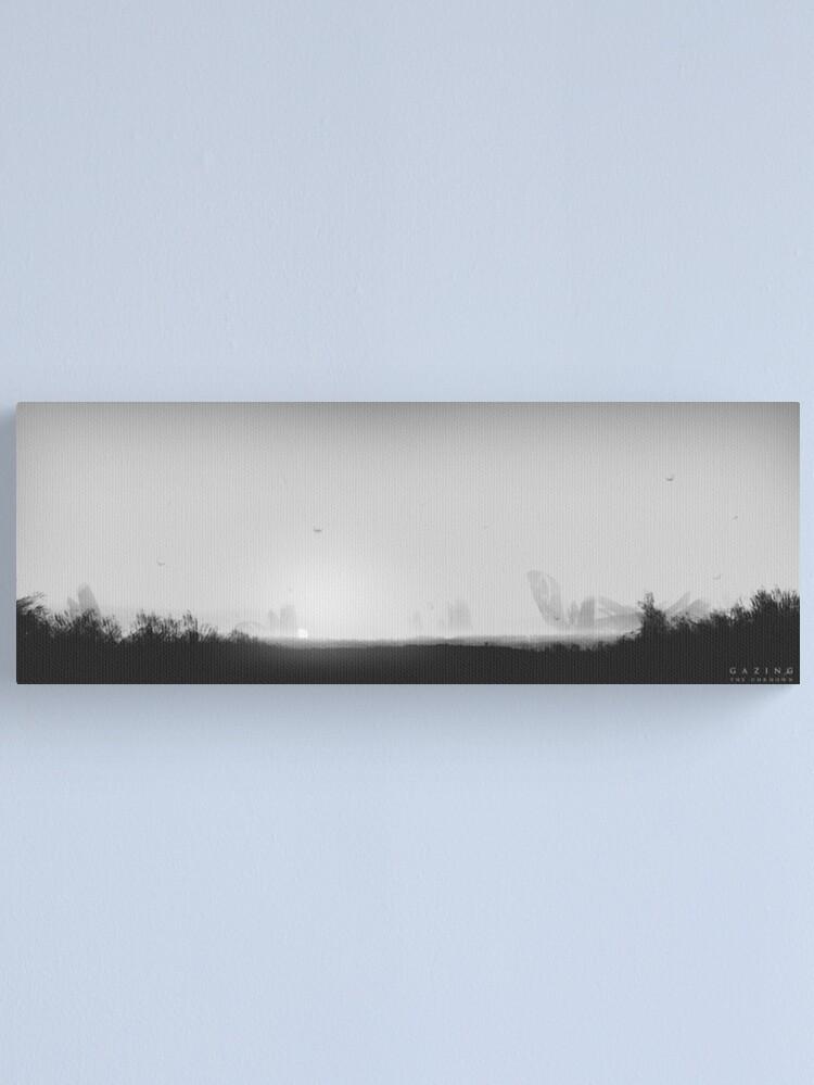 Alternative Ansicht von Gazing the Unknown - Digital Artwork Leinwanddruck