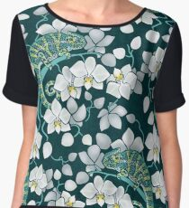chameleons and orchids  Women's Chiffon Top
