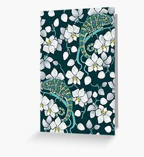 chameleons and orchids  Greeting Card