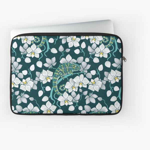 chameleons and orchids  Laptop Sleeve