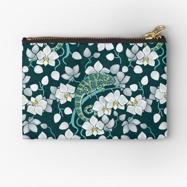 chameleons and orchids  Zipper Pouch
