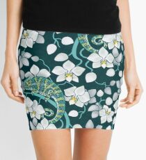 chameleons and orchids  Mini Skirt