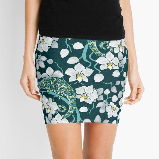 chameleons and orchids  Mini Skirt
