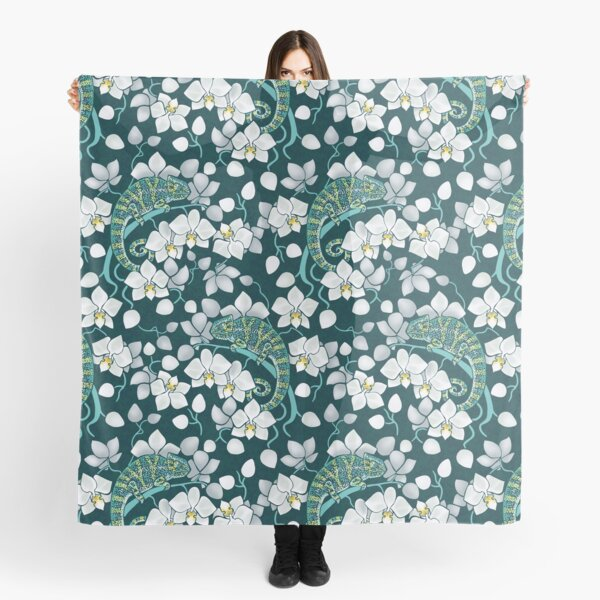 chameleons and orchids  Scarf