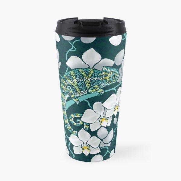 chameleons and orchids  Travel Mug