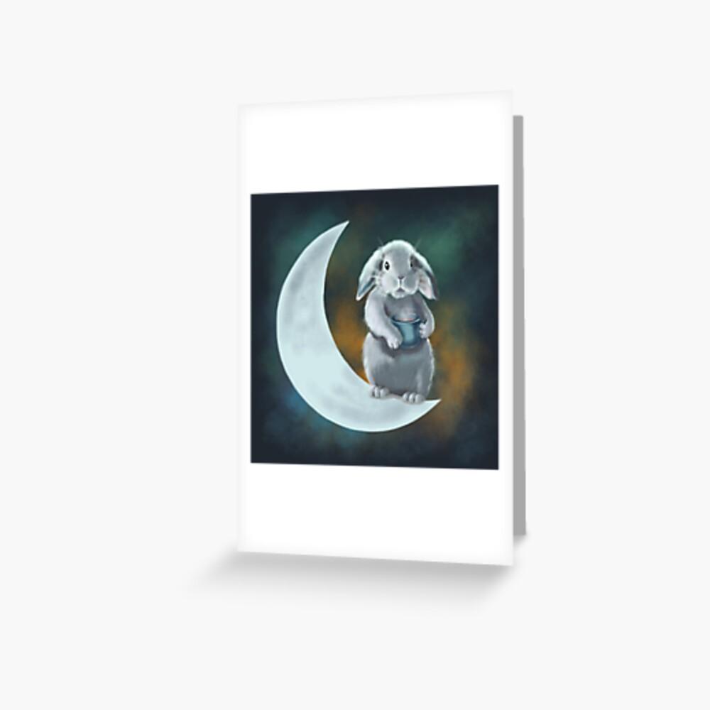 Moon rabbit Greeting Card