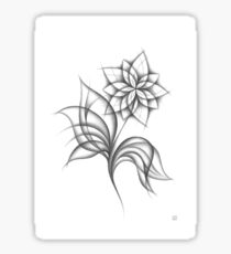 stylized flower Sticker