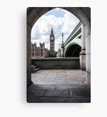 Big Ben from under Westminster Bridge Canvas Print