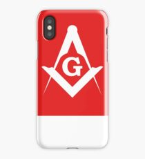 Masonic Compass   Lust Brick iPhone Case