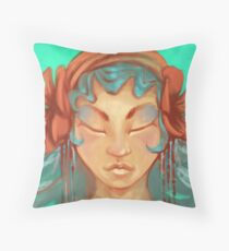 Aurora Azure   Throw Pillow
