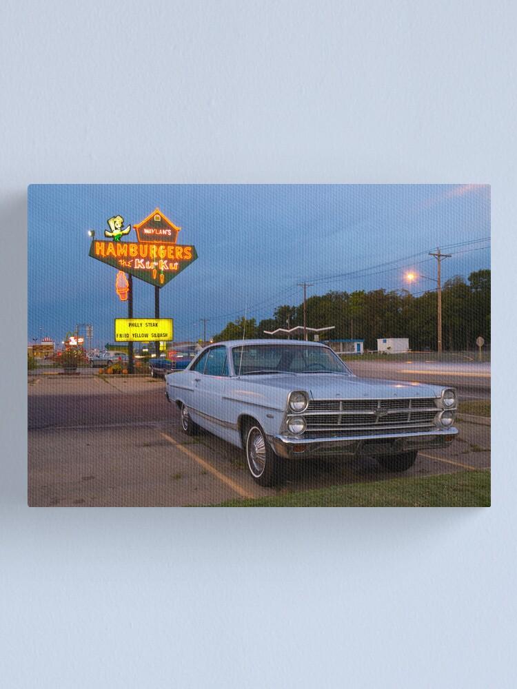 Alternate view of Route 66. Miami. Oklahoma. Waylan's Ku Ku Burgers (Alan Copson © 2007) Canvas Print