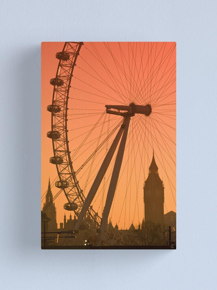 Alternate view of Big Ben and London Eye (Alan Copson © 2008) Canvas Print
