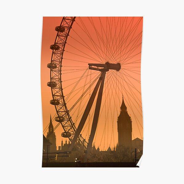 UK, England, London, Big Ben and London Eye (Alan Copson ©) Poster