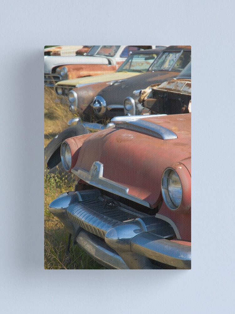 Alternate view of Route 66. White Oak. Old cars in wrecker's yard (Alan Copson © 2007) Canvas Print