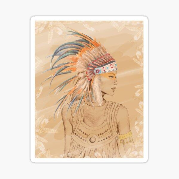 Boho girl illustration Sticker