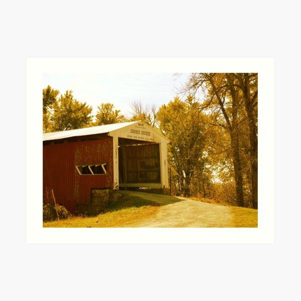 Crooks Covered Bridge ~ Rockville, Indiana ~ USA Art Print