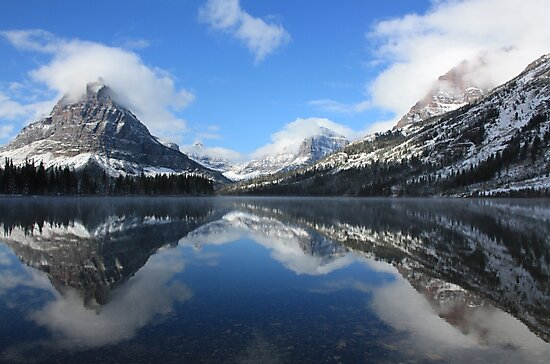 Two Medicine Lake After a Snowstorm by Kevin Sebold