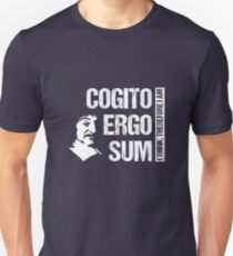 Cogito Ergo Sum René Descartes Philosophy T-Shirt Distressed Unisex T-Shirt
