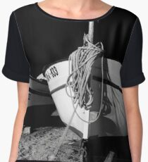 Old Fishing Boats in the Night Women's Chiffon Top